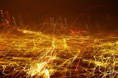 Rastros de la luz. Imágenes de archivo libres de regalías