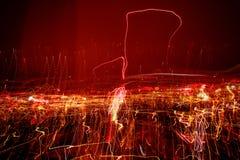 Rastros de la luz. Foto de archivo libre de regalías
