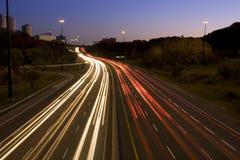 Rastros de la luz Fotografía de archivo