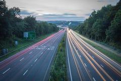 Rastros de la luz de Plymouth Imagen de archivo
