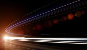 Rastros de la luz del coche Fotografía de archivo libre de regalías
