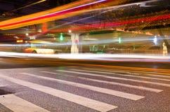 Rastros de la luz del coche Imagen de archivo