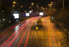 Rastros de la luz en la noche Imagen de archivo