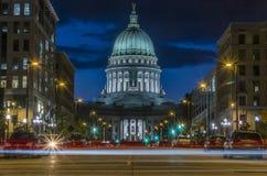 Rastros de la luz en Wisconsin foto de archivo libre de regalías