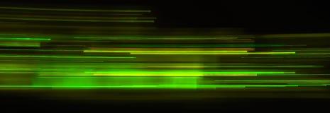Rastros de la luz verde fotos de archivo