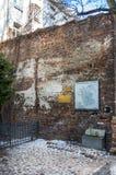 Rastros de la Varsovia judía - pared del ghetto Imagen de archivo libre de regalías