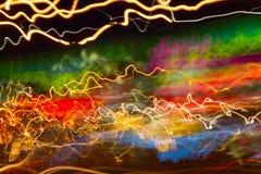 Rastros de luces Foto de archivo libre de regalías