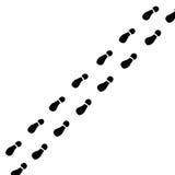 Rastros de pies ilustración del vector