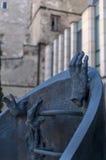 Rastros de Varsovia judía - monumento de los combatientes del ghetto Imágenes de archivo libres de regalías