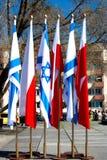 Rastros de Varsovia judía - monumento a los héroes del ghetto Imagen de archivo