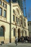 Rastros de Varsovia - sinagoga judías de Nozyk Fotos de archivo