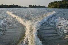 Rastros del agua Foto de archivo libre de regalías