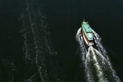 Rastros del barco Fotos de archivo