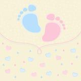 Rastros del bebé Imagenes de archivo