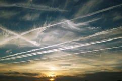 Rastros del cielo Fotos de archivo