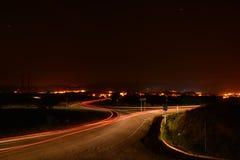 Rastros del coche de la noche Fotos de archivo libres de regalías