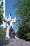 Rastros del ghetto judío - Janusz Korczak Monument Imágenes de archivo libres de regalías