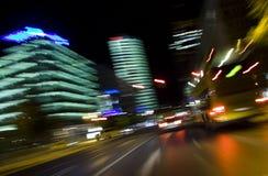 Rastros del semáforo foto de archivo libre de regalías