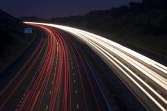 Rastros del tráfico Fotografía de archivo libre de regalías