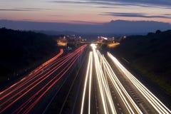 Rastros del tráfico Imagenes de archivo