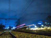 Rastros del tren Fotografía de archivo