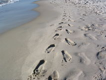 Rastros en la arena Fotografía de archivo libre de regalías