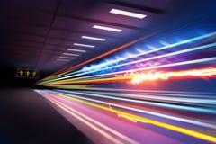 Rastros estupendos de la luz Imagen de archivo libre de regalías