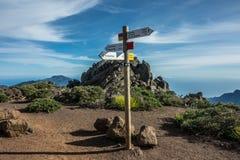 Rastros que cruzan en el La Palma Island Foto de archivo libre de regalías