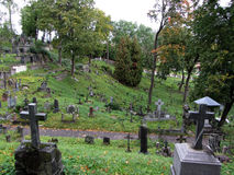 Rasu cemetery in Vilnius, Lithuania Royalty Free Stock Photos