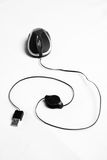 Ratón óptico atado con alambre del usb fotografía de archivo libre de regalías