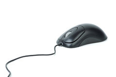 Ratón óptico negro con estilo del ordenador Imagen de archivo