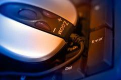 Ratón óptico y teclado Imágenes de archivo libres de regalías