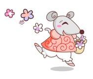Ratón alegre Foto de archivo libre de regalías
