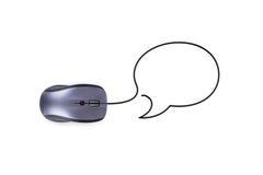 Ratón con la burbuja del discurso Fotografía de archivo libre de regalías