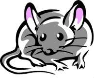 Ratón con los oídos rosados grandes Foto de archivo