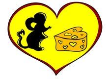 Ratón con queso Foto de archivo