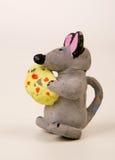 Ratón con queso Fotografía de archivo