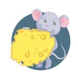 Ratón con queso Imagenes de archivo