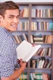 Ratón de biblioteca feliz Imagen de archivo libre de regalías