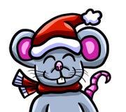 Ratón de la feliz Navidad stock de ilustración