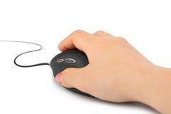 Ratón de la mano y del ordenador Imagenes de archivo