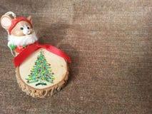 Ratón de la Navidad Fotos de archivo