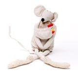 Ratón de la Navidad en blanco Imagen de archivo libre de regalías