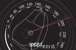 Ratón de la velocidad Fotos de archivo libres de regalías