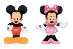 Ratón de Mickey y de Minnie Imagen de archivo libre de regalías
