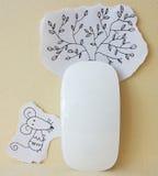 Ratón de papel y ratón del ordenador Foto de archivo libre de regalías