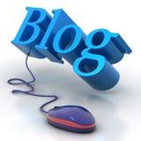 Ratón del blog Fotografía de archivo libre de regalías