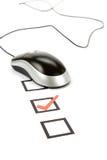 Ratón del cuestionario y del ordenador Foto de archivo libre de regalías