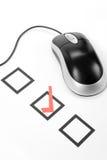 Ratón del cuestionario y del ordenador Imagen de archivo libre de regalías