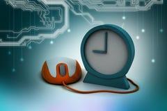 Ratón del despertador y del ordenador Imágenes de archivo libres de regalías